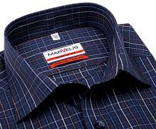 Koszula Marvelis Modern Fit - niebiesko-beżowa w kolorową kratkę