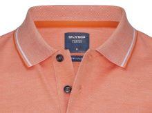 Polo koszulka Olymp z kołnierzykiem - pomarańczowa z białą siateczką