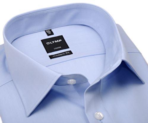 Koszula Olymp Luxor Modern Fit - jasnoniebieska - skrócony rękaw