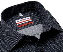 Koszula Marvelis Modern Fit - czarna z drobnym szarym wzorem