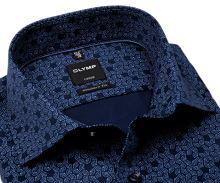 Koszula Olymp Luxor Modern Fit – niebieska z nadrukowanym wzorem