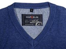 Bawełniany sweter Marvelis - niebieski