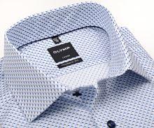 Koszula Olymp Modern Fit – białym z niebieskim wzorem - krótki rękaw