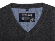 Bawełniany sweter Marvelis - antracytowy