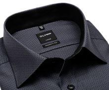 Koszula Olymp Modern Fit – czarno-biała z wplecionym wzorem - extra długi rękaw