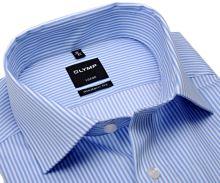 Koszula Olymp Modern Fit Twill – w jasnoniebieskie paski