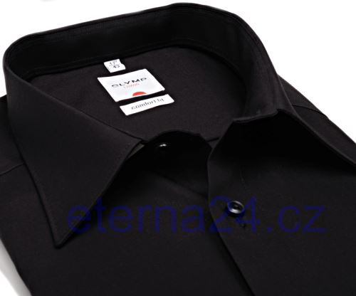 Koszula Olymp Luxor Comfort Fit Uni Popeline - czarna