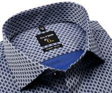 Koszula Olymp Super Slim – stalowo niebieska z ciemnoniebieskim wzorem