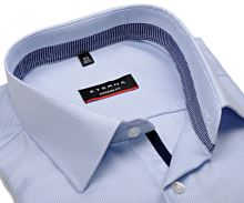 Koszula Eterna Modern Fit Twill – jasnoniebieska z niebieskobiałym kołnierzykiem wewnętrznym - extra długi rękaw