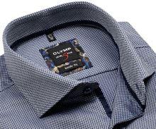 Koszula Olymp Level Five – z ciemnoniebieskim wzorem siatki - extra długi rękaw