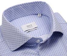 Koszula Eterna 1863 Slim Fit Two Ply NEVER IRON - luksusowa z młodzieńczym niebieskim wzorem
