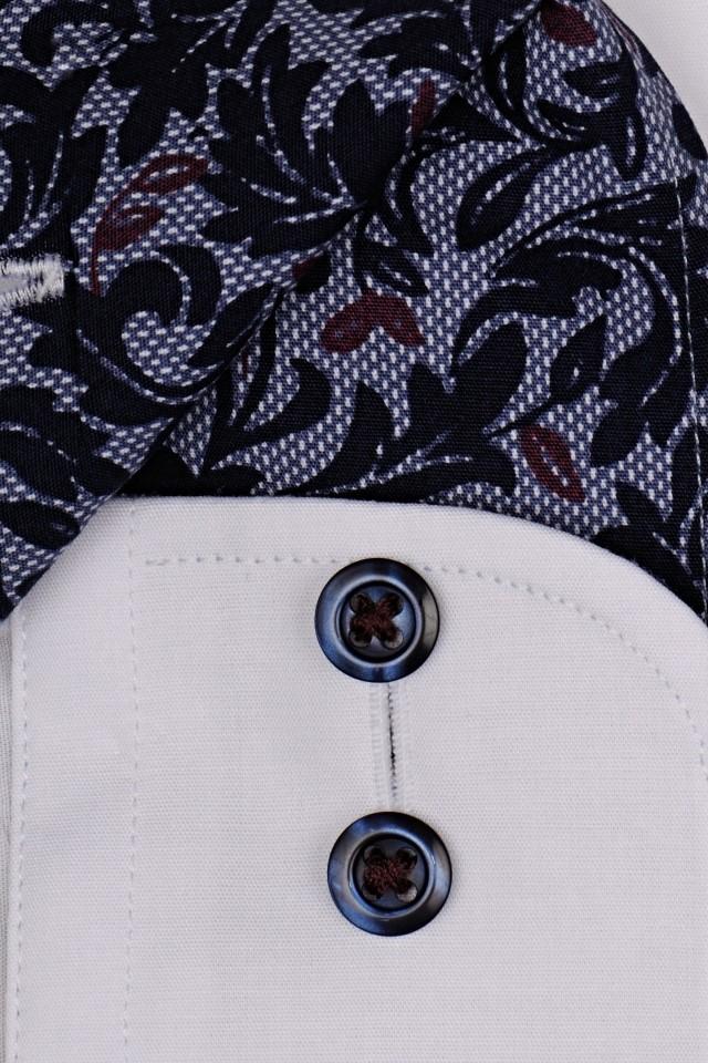 Biała koszula Eterna Slim Fit Stretch Non Iron z stojką  ii3a5