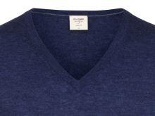 Sweter Olymp Level Five z wełny merino z domieszką jedwabiu - niebieski