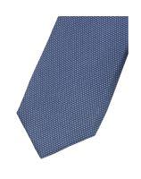 Krawat super slim Olymp – niebieski z tkanym jasnoniebieskim wzorem