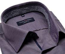 Koszula Casa Moda Comfort Fit Premium – fioletowa z niebiesko-fioletową stójką wewnętrzną - extra długi rękaw