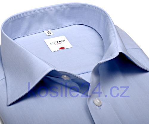 Koszula Olymp Luxor Comfort Fit Chambray - jasnoniebieska - krótki rękaw