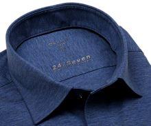 Koszula Olymp Super Slim 24/Seven – niebieska elastyczna w jasnoniebieską siateczkę