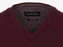 Bawełniany sweter Casa Moda - bordowy