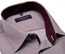 Koszula Casa Moda Comfort Fit Premium – w czerwono-niebieskie paski, z wewnętrzną stójką i mankietem