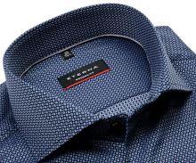 Koszula Eterna Modern Fit - luksusowa z wyszytym niebieskim wzorem