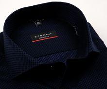 Koszula Eterna Modern Fit – luksusowa z niebiesko-czarnym geometrycznym wzorem