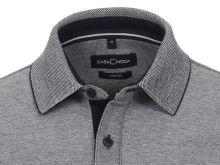 Koszulka polo Casa Moda - ciemnoniebieska z kołnierzykiem i białymi tonami