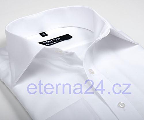 Koszula Eterna Comfort Fit Uni Popeline - biała - extra długi rękaw