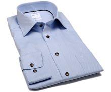 Koszula Olymp Comfort Fit – jasnoniebieska z wyszytym wzorem