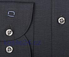 Koszula Olymp Level Five Chambray – antracytowa - extra długi rękaw