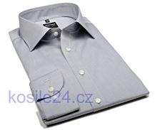 Koszula Olymp Level Five Chambray - jasnoszara - extra długi rękaw