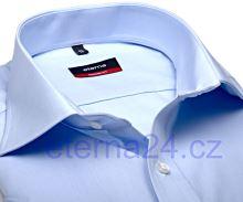 Koszula Eterna Modern Fit Uni Popeline - jasnoniebieska bez kieszonki