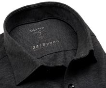 Koszula Olymp Level Five 24/Seven – antracytowa elastyczna