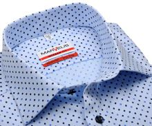 Koszula Marvelis Modern Fit – jasnoniebieska z drobnym symbolem piku - krótki rękaw