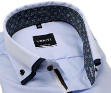 Koszula Venti Modern Fit Twill – jasnoniebieska z podwójnym kołnierzem