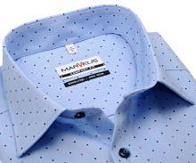 Koszula Marvelis Comfort Fit – jasnoniebieska w czerwono-niebieskie kropki - krótki rękaw