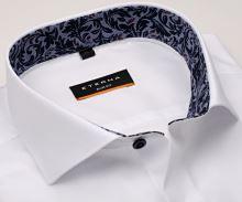 Koszula Eterna Slim Fit Stretch Non Iron – biała z stójką wewnętrzną i mankietem