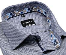 Koszula Venti Modern Fit – niebiesko-biała z designerską stójką wewnętrzną