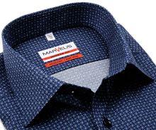 Koszula Marvelis Modern Fit - ciemnoniebieska z drobnym niebieskim wzorem