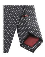 Krawat super slim Olymp – czarny z białym wzorem
