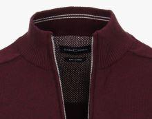 Bavlněný rozepínací svetr Casa Moda – bordó