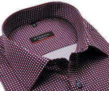 Koszula Eterna Modern Fit - z czerwono-niebiesko-białym wzorem - super długi rękaw