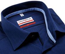 Koszula Marvelis Modern Fit – ciemnoniebieska z jasnoniebieską stójką - extra długi rękaw