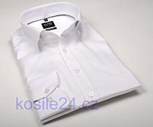 Luksusowa, biała koszula Olymp Level Five Diamant Twill – z delikatną strukturą