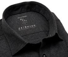 Koszula Olymp Super Slim 24/Seven – antracytowa elastyczna