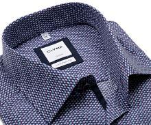 Koszula Olymp Comfort Fit – z fioletowo-niebieskim wzorem i wewnętrzną plisą