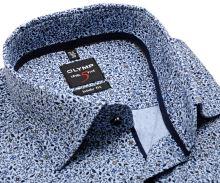 Koszula Olymp Level Five – niebieska w kwiaty - extra długi rękaw