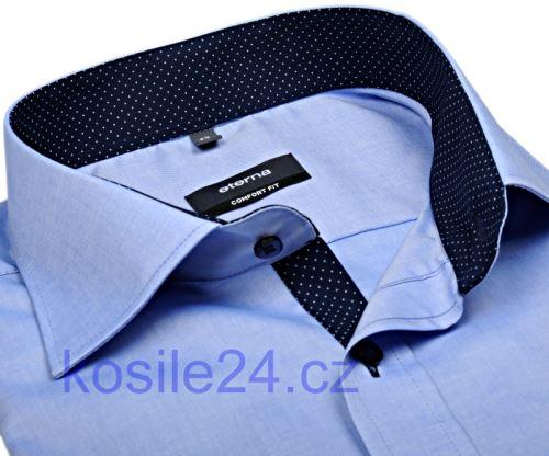 Koszula Eterna Comfort Fit Fine Oxford – jasnoniebieska z stójką wewnętrzną - extra długi rękaw