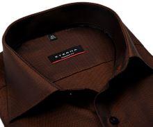 Koszula Eterna Modern Fit – z drobnym brązowo-czarnym wzorem