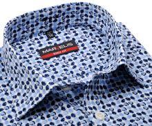 Koszula Marvelis Body Fit – designerska w niebieskie koła