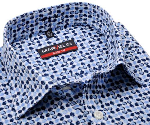 Koszula Marvelis Body Fit – disignerska w niebieskie koła